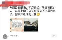 网传湖北枣阳发生小轿车恶意撞人事件