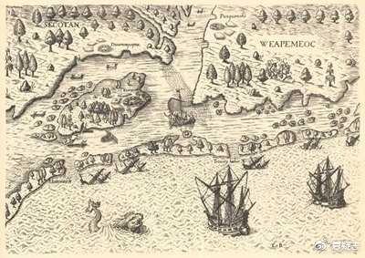 约翰・怀特绘制的地图