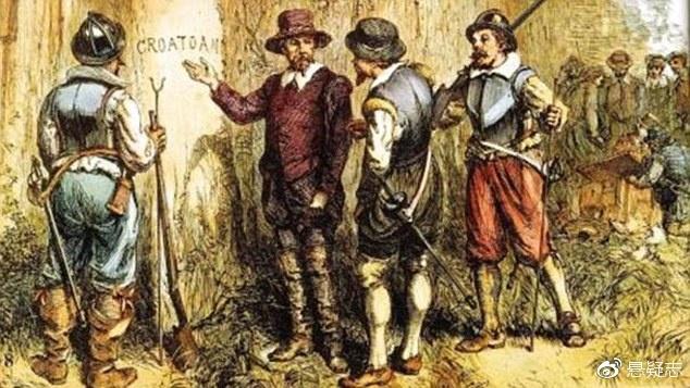 """唯一的线索是树上刻的字的""""Croatoan"""""""