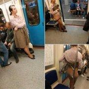 女乘客当众脱掉内裤还破口大骂(图)