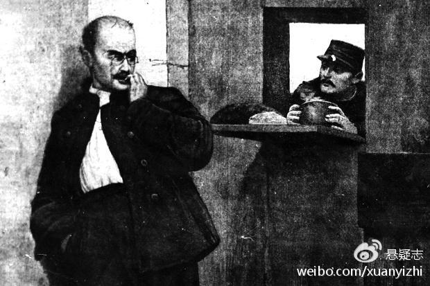 1895年,监狱中的德雷福斯