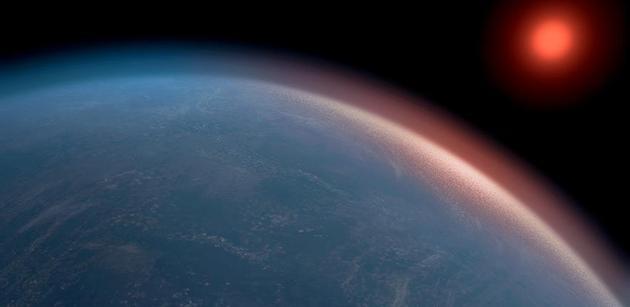 K2-18b距离地球124光年,半径是地球的2.6倍,质量是地球的8.6倍,其位于主恒星宜居地带,表面温度可维持液态水存在。